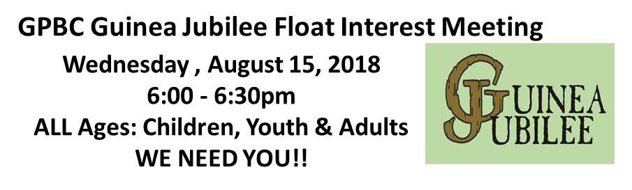 GPBC GJ Float Interest Meeting