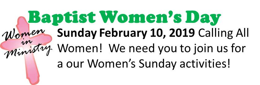 Baptist Women's Day 2019