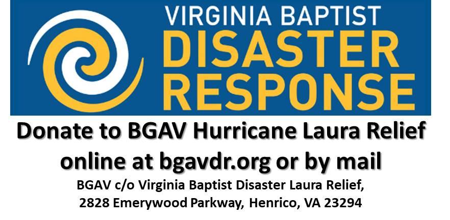VA Baptist Hurricane Laura Relief