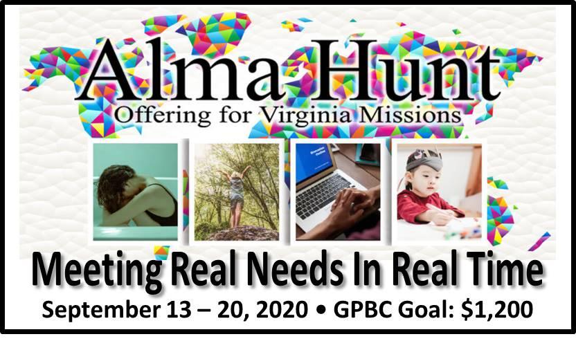 2020 Alma Hunt for VA Missions