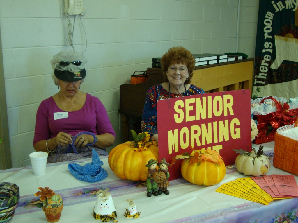 Senior's Morning Out Craft Display at the Annual Fall Festival