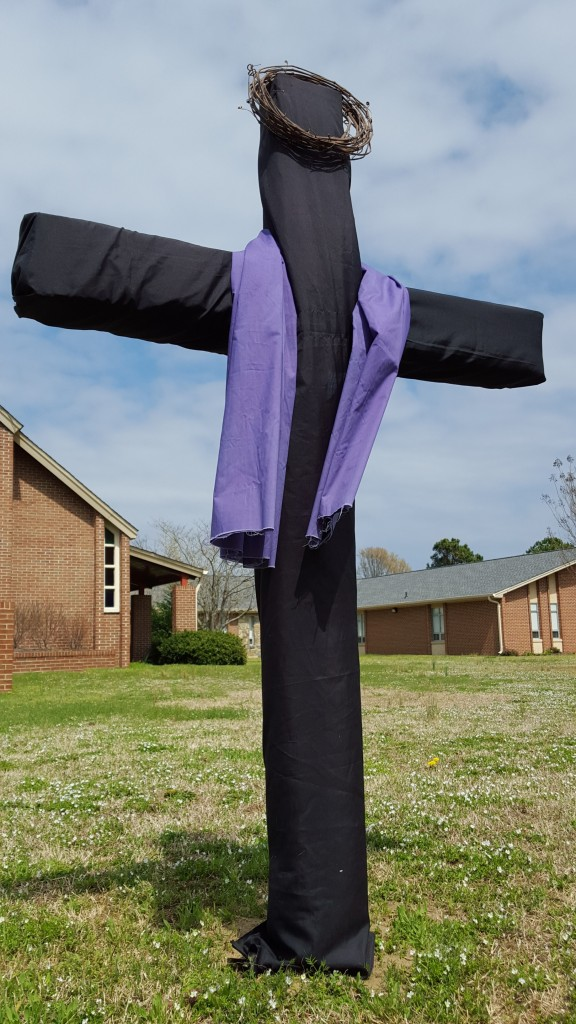 Easter Cross Black Drape